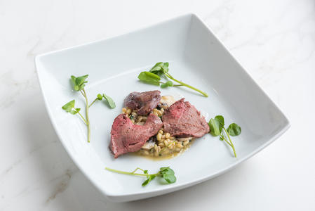 2017 finalist from Hampshire - pigeon & watercress risotto