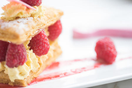 2017 winning dish - raspberry mille feuille