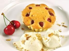 Create and Cook 2012 recipes - Cherry and Walnut Tart with Homemade Ice Cream