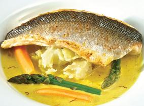 Create and Cook 2012 recipes - Pan Fried Sussex Sea Bass with Saffron Broth