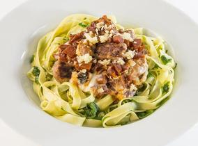2013 Create & Cook finalists recipes - Amber's Sausage Bake with Tagliatelle