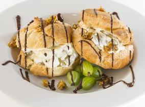 2013 Create & Cook winners recipes - Chris's Profiteroles with Gooseberry Cream