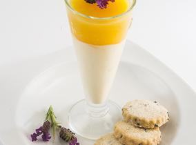 2014 Create & Cook finalists recipes - Sofia's Honey Bavarois with Orange Jelly and Lavender shortbreads