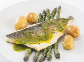 2015 Create & Cook finalists recipe - Charlotte's Littlehampton Bream with Spring Herb Dressing