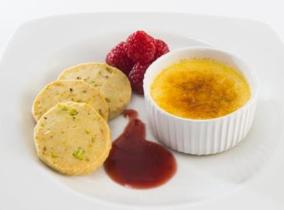 2015 Create & Cook finalists recipe - Laura's Crème Brulee and Pistachio Shortbread