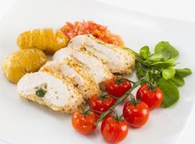 2015 Create & Cook finalists recipe - Ross's Hampshire Chicken stuffed with Buffalo Mozzarella and Basil