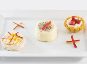 2015 Create & Cook Finalists recipe - Daniel's Trio of Rhubarb Desserts
