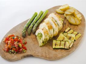 2016 Create & Cook Finalists recipe – Kirsty's Chicken Breast Stuffed with Pesto & Isle of Wight Goat's Cheese